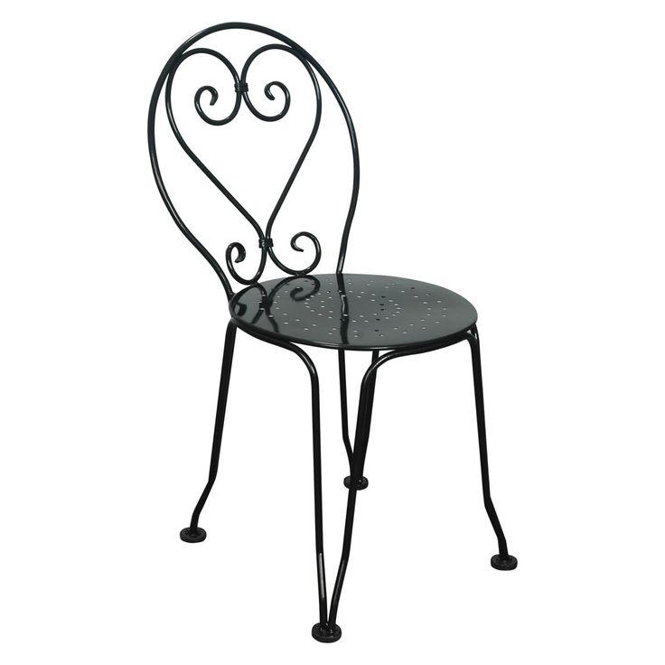 Furniture Designhouse French Cafe Bistro Metal Ice Cream Chair - Set of 2 - 5203S-BK