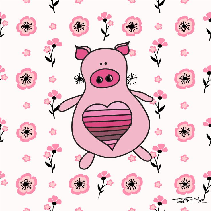 Miss Piggy the Pig in pink :)