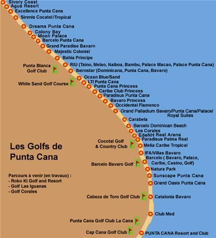 Punta Cana Resort and Golf Courses Map