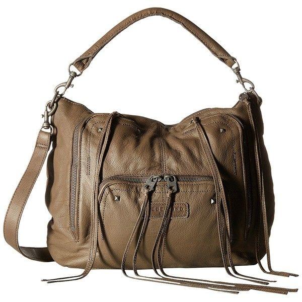 Liebeskind Biggi Hobo (Truffle) Hobo Handbags ($135) ❤ liked on Polyvore featuring bags, handbags, shoulder bags, brown, hobo handbags, brown leather purse, leather man bags, leather hobo handbags and leather hand bags