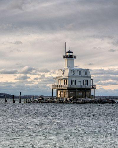 """Long Beach Bar """"Bug"""" Lighthouse, Orient Point State Park, Long Island, NY"""