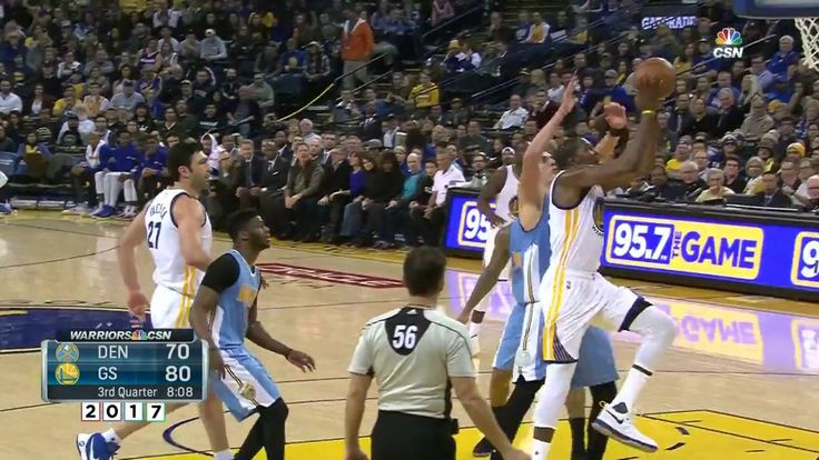 Kevin Durant Hits Nikola Jokic with a Crossover and Finishes   Nuggets vs GSW   January 2 2017