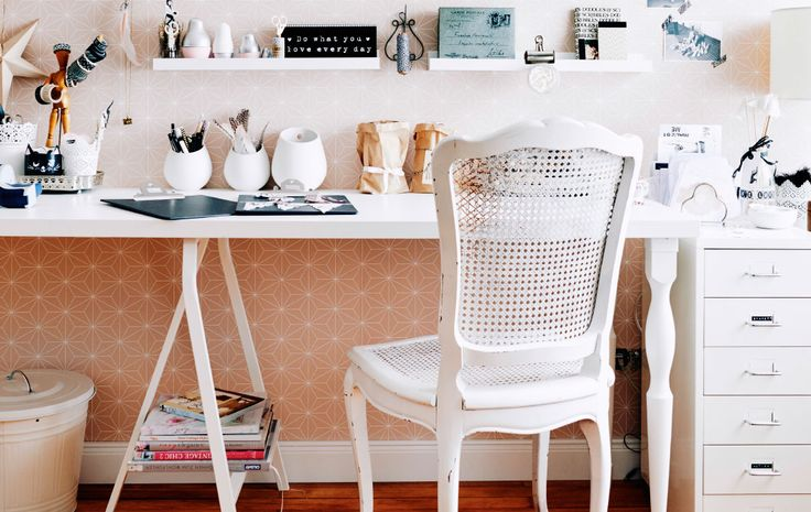 """Love this home office organization ideas from this """"blogger mama"""" that I found on Ikea! 