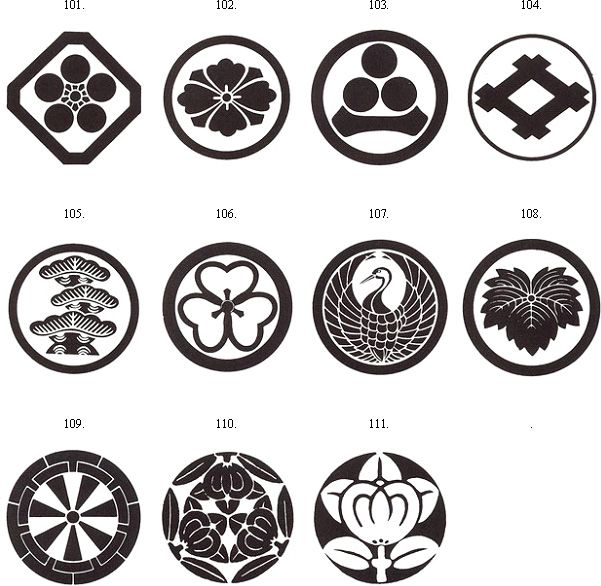 crest family symbol | family crests these samurai crests can be added to your armor s chest ...