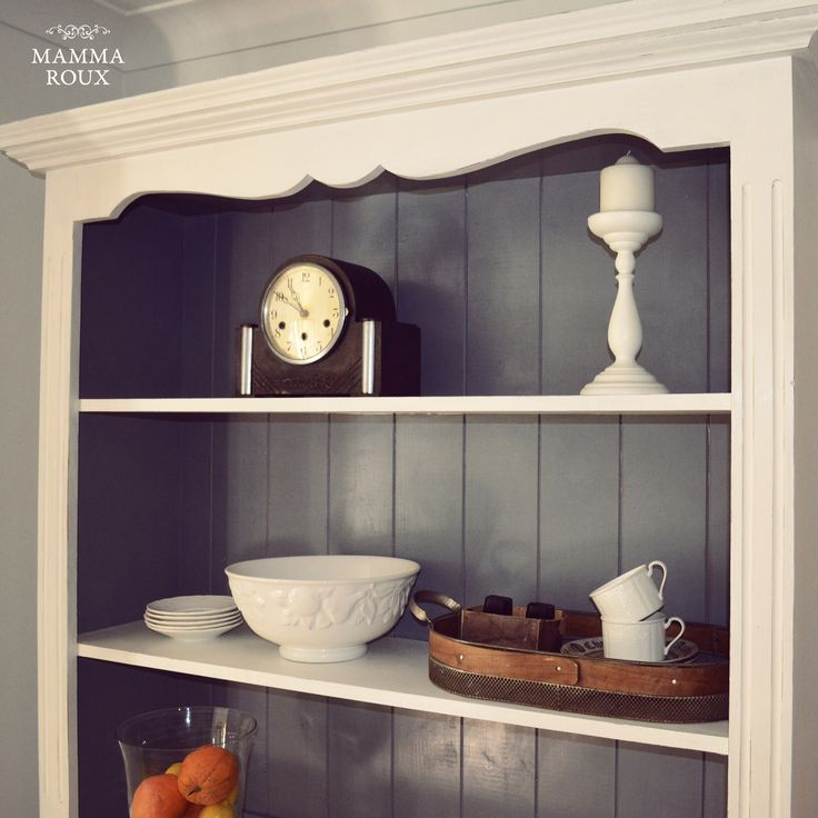 The pine hutch defined an era and Zoe Ella from Mamma Roux has given it a smart update for a new generation using Porter's Paints Chalk Emulsion in colours Plain White and Half Strength Lead. We are positively charmed by its quiet beauty. http://www.porterspaints.com/paints/speciality-finishes/chalk-emulsion