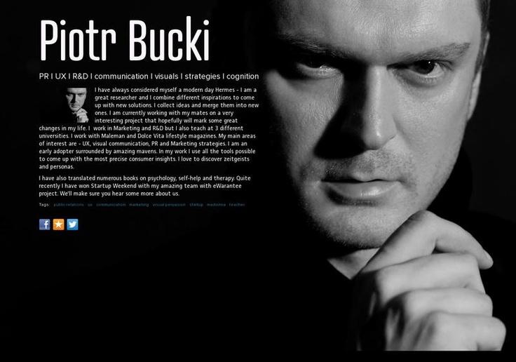 Piotr Bucki's page on about.me – http://about.me/piotrbucki