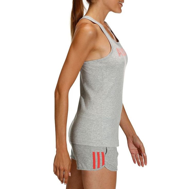 Deportes Fitness Fitness cardio, pilates - Camiseta fitness mujer DECADA ADIDAS - Ropa de gimnasia y pilates Decathlon