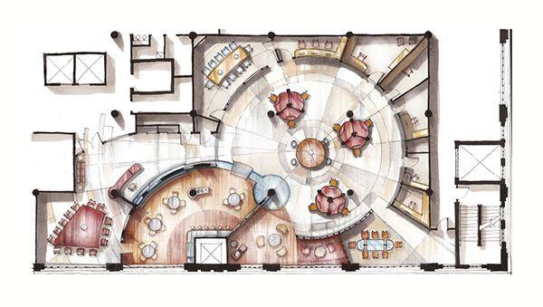 Corporate interior design remodel project.