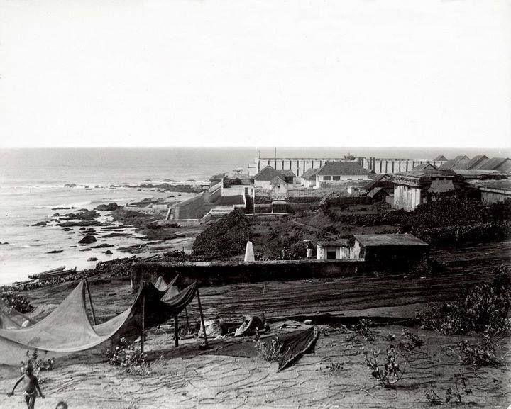 கன்னியாகுமரி கடல் 1915ம் வருடத்திய புகைப்படம்