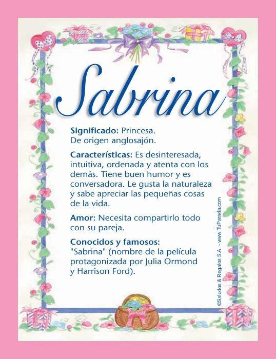 Sabrina, imagen de Sabrina