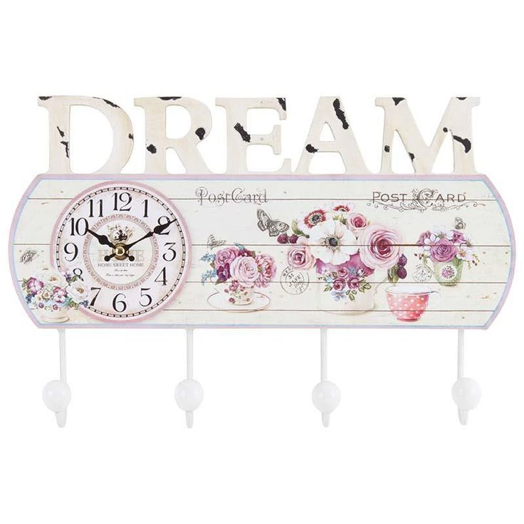 Beautiful #romantic style wall #clock / hanger! www.inart.com