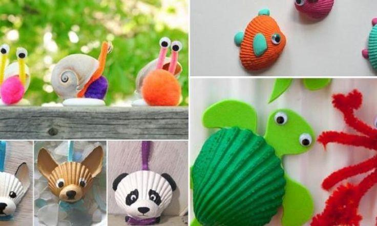 20 adorables bricolages à faire avec les coquillages trouvés en voyage!