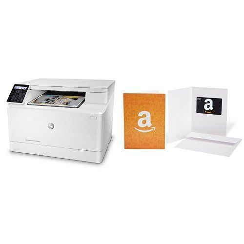 HP LaserJet Pro M180nw All in One Wireless Color Laser Printer and Amazon.com Gift Card - HP LaserJet Pro M180nw All in One Wireless Color Laser Printer and Amazon.com Gift Card