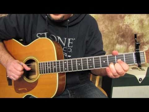 ▶ Beatles - Across the Universe - How to play on Acoustic Guitar Lesson - John Lennon - YouTube