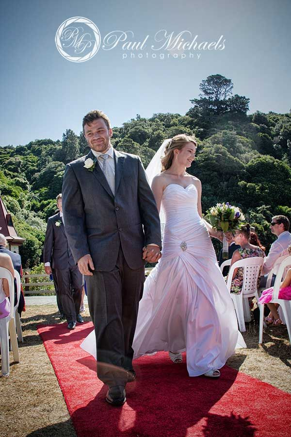 Just married at Zealandia. New Zealand #wedding #photography. PaulMichaels of Wellington www.paulmichaels.co.nz