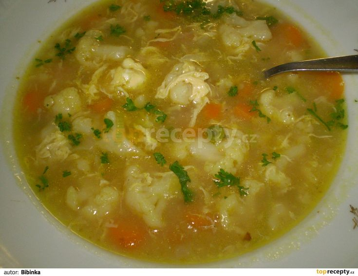 poctivá květáková polévka