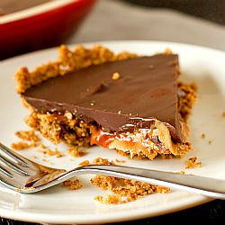 Candy Bar Pie - All of the favorite elements of candy bars - pretzels, peanut…