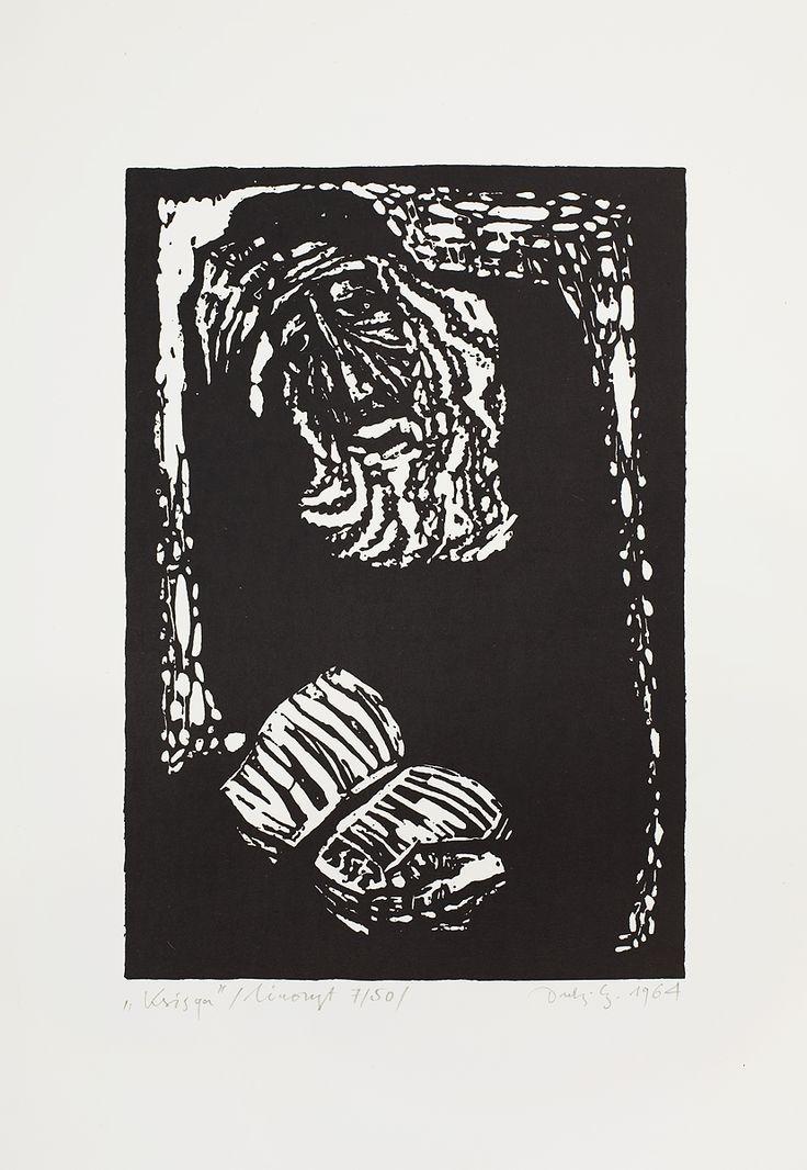Jerzy Duda Gracz | KSIĘGA, 1964 | linoryt, papier | 15.3 x 10.4 cm