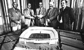 ELLISPARK :: The History of Ellis Park Model of the 1980 stadium  A new TRFU management was elected in 1984 with Dr Louis Luyt as Chairman and Prof Joe Poolman as his deputy.
