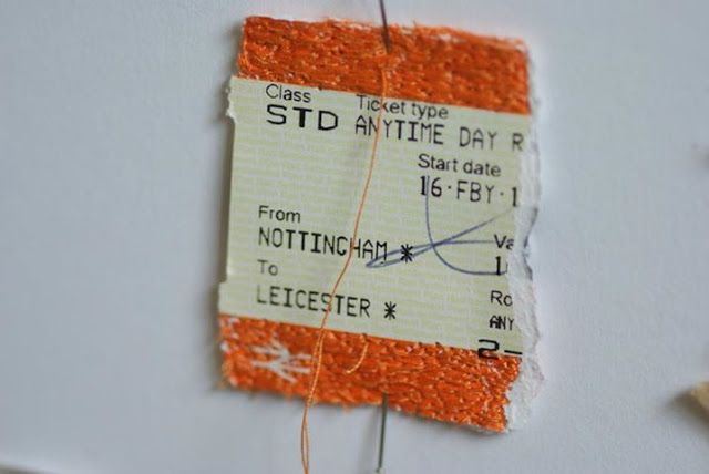 Kirsty Whitlock embroiders unusual surfaces making the mundane exceptional and challenging the consumer culture by transforming trash into t...