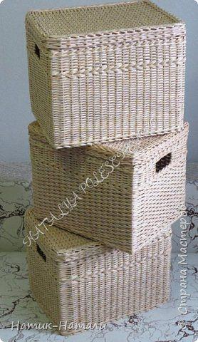 Поделка изделие Плетение Март-апрель Трубочки бумажные фото 4