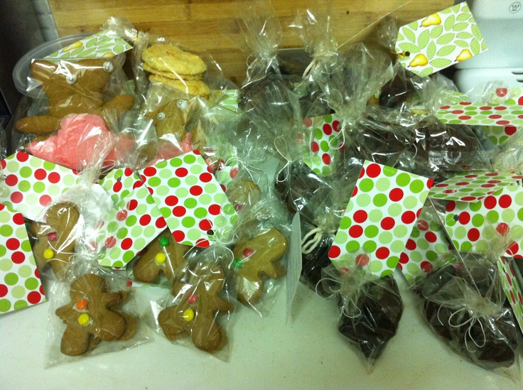 Christmas presents of gingerbread, chocolate truffles and coconut biscuits, Armadale VIC, December 2011.