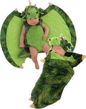 Darling Dragon Swaddle Wings Baby Costume - Newborn Baby Costumes
