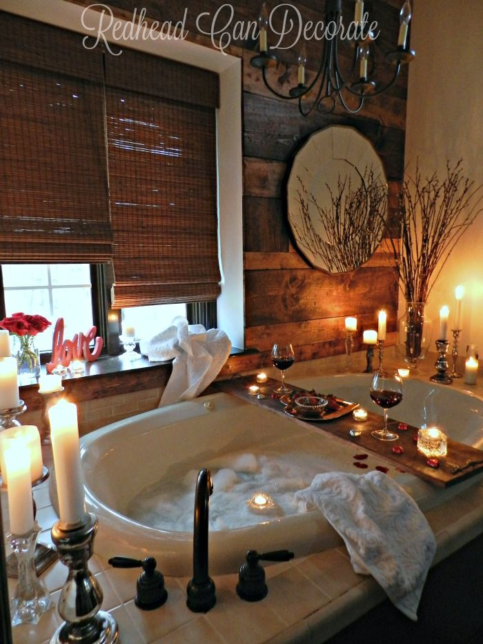 Romantic Bathroom Date 2016 from Redhead Can Decorate