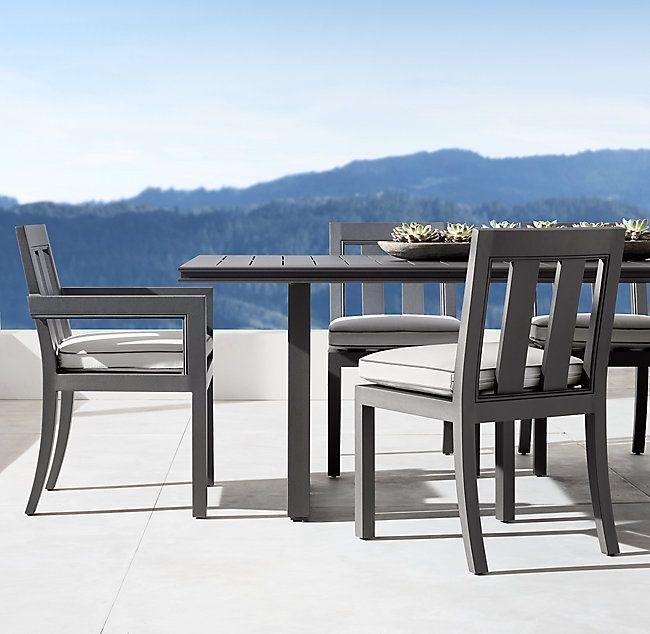 Alternate View 4 Rectangular Dining Table Backyard Patio Furniture Outdoor Furniture Sets