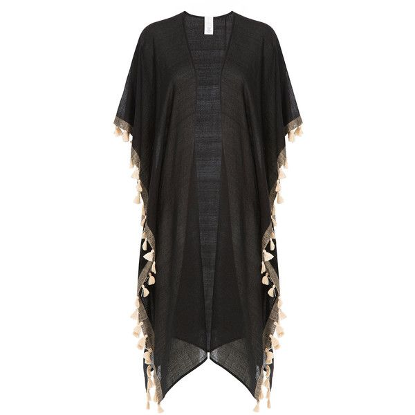 Ale by Alessandra Sheer Cover-Up (705 HRK) ❤ liked on Polyvore featuring swimwear, cover-ups, black, beach cover up, transparent swimwear, sheer swim cover up, sheer cover up swimwear and swim cover up