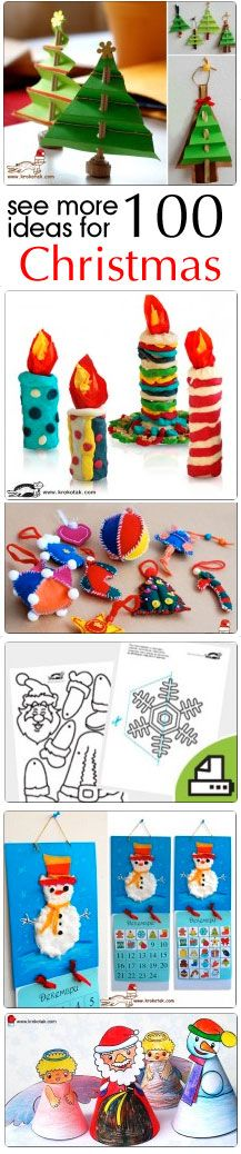 #Christmas #kids #crafts - wonderful art projects & coloring pages for any age children