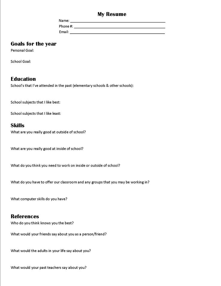 19 best School Stuff images on Pinterest Teaching ideas, School - basic resume templates for high school students