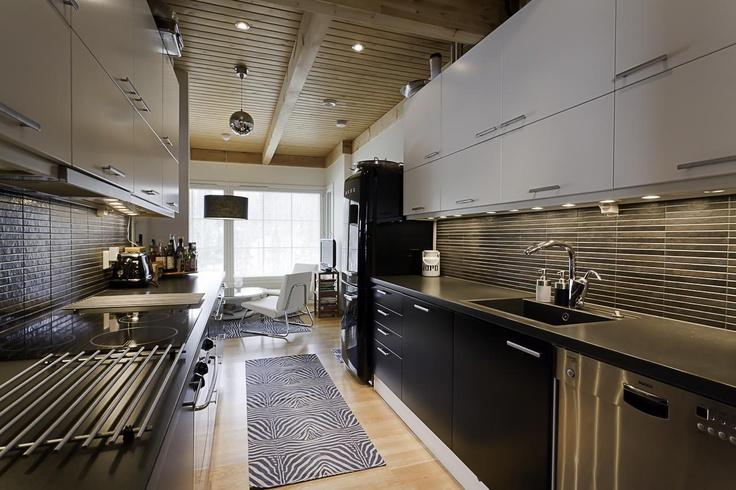 Mustavalkoinen keittiö  Keittiö  Pinterest  Portal och Sök