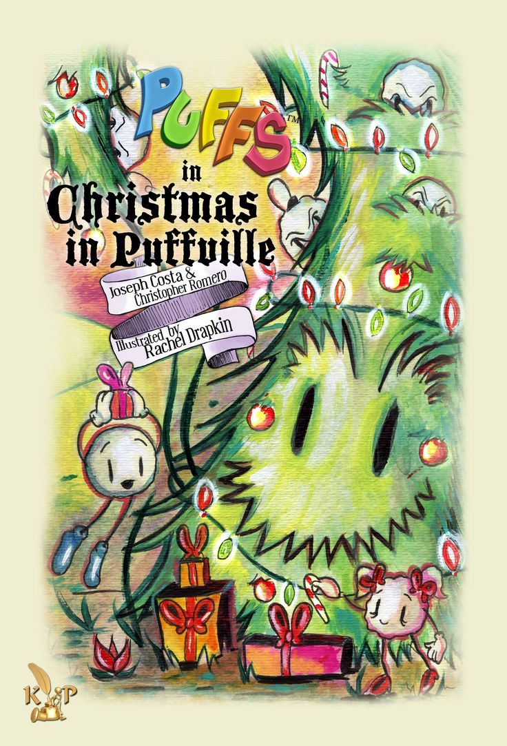 """It's Christmas time in Puffville and the Puffs are preparing to put on their annual holiday play for King Puffington. But the Naughty Puffs have something else in mind. This special holiday edition Puffs adventure book was written in rhyme similar to """"T'was The Night Before Christmas"""" and instead of using digital art, illustrator, Rachel, beautifully hand painted every page in watercolor. Keith Publications - keithpublications.com"""