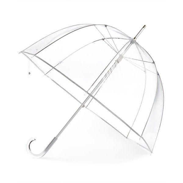 Totes Signature Manual Bubble Umbrella (98 ILS) ❤ liked on Polyvore featuring accessories, umbrellas, clear bubble, bubble umbrellas, see through umbrella, transparent umbrella, oversized umbrella and clear umbrella