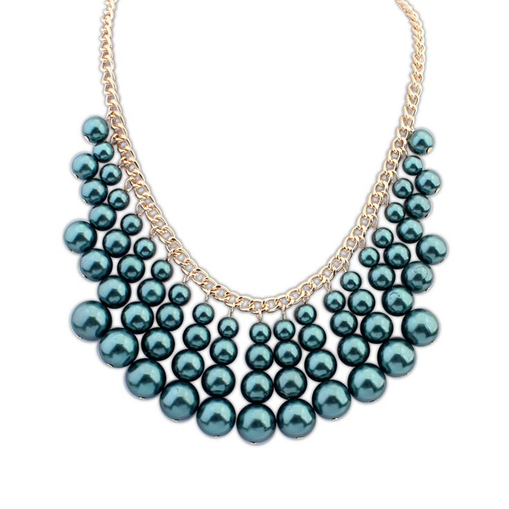 Statement-Necklace-Tahiti pearls graphic collier