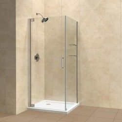 """DreamLine ELEGANCE 30 x 32 x 72 Frameless Shower Enclosure with Support Arm. 3/8"""" Tempered Clear Glass. Clear glass door reversible for """"right"""" or """"left"""" door opening.  http://www.emoderndecor.com/dreamline-elegance-30-x-32-x-72-frameless-shower-enclosure.html#.UhX-9H1_V0w"""