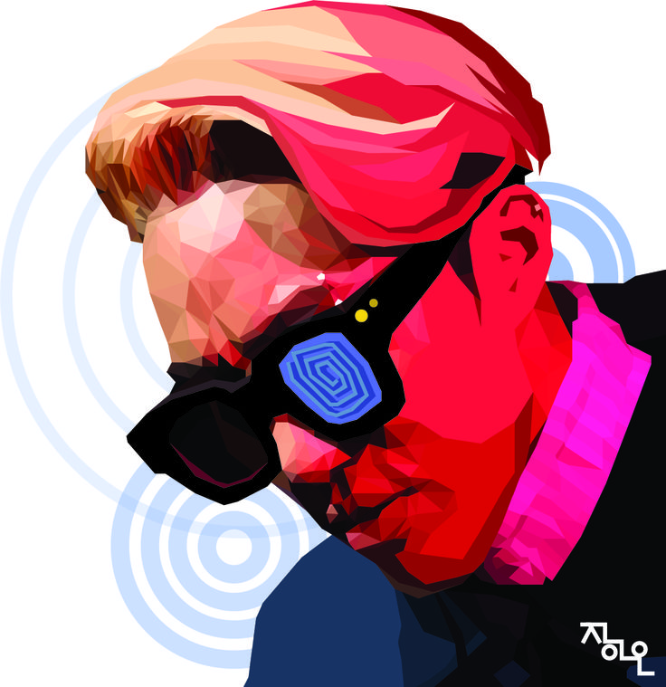 polygone art illustrator illustration ziont rap