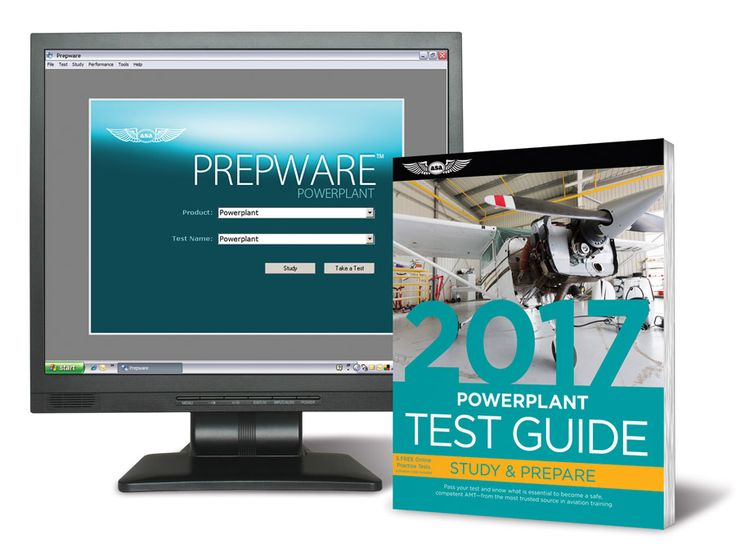 Fast Track 2017 Test Guide Bundle: Powerplant Combined Test Guide book and study software for the Powerplant FAA Knowledge Exam.