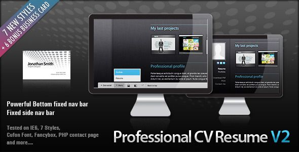 Professional & Clean HTML CV RESUME - Resume / CV Specialty Pages