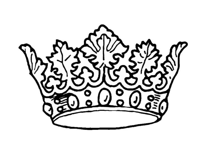 coloring page kings crown img