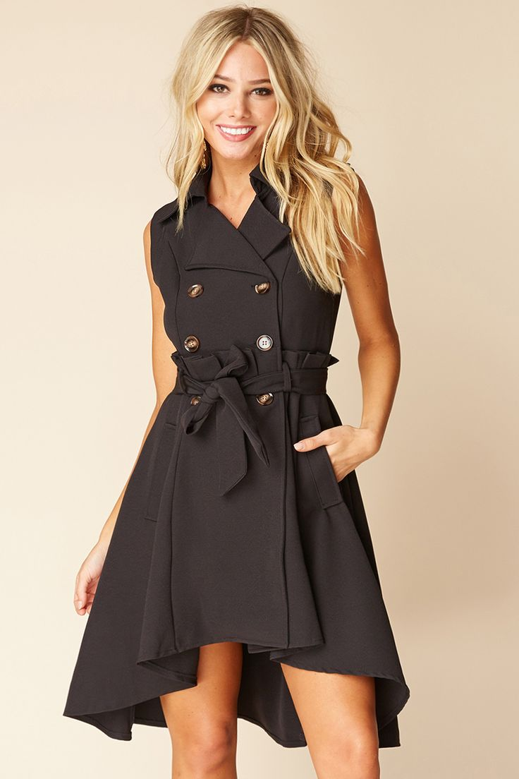 Selfie Leslie Hi-Lo Trench Dress
