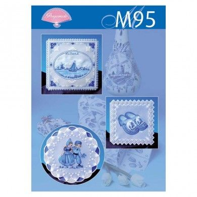Pergamano Parchment Pattern - M95 - Delft Blue Scenes - A great Pattern pack from Pergamano with six projects painted with tinta and pintura medium level projects.