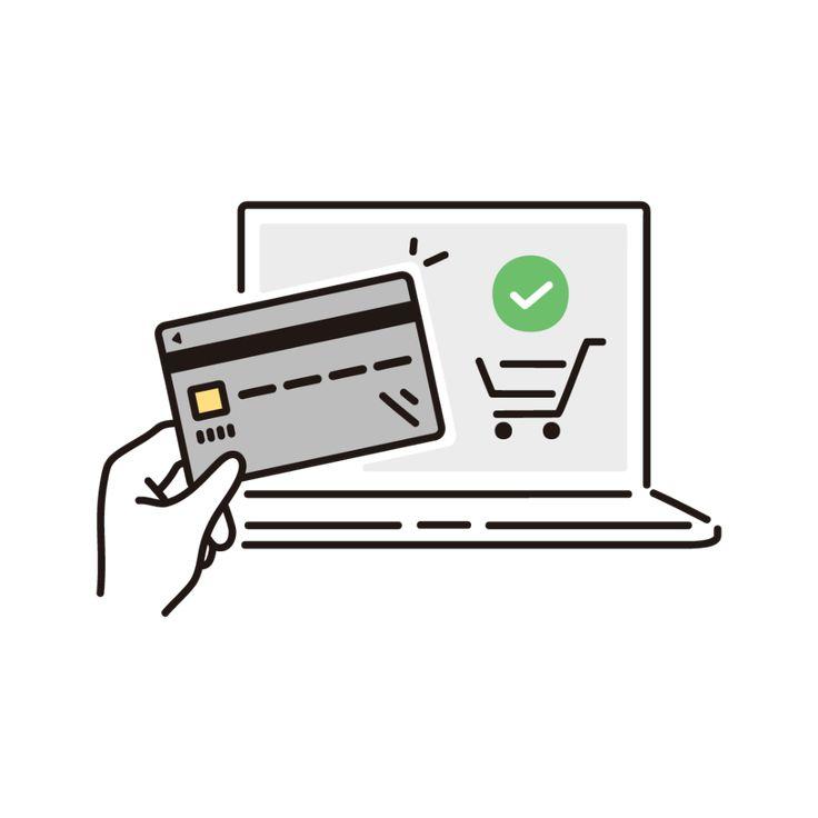 ネットショッピング クレジットカード決済 のイラスト フリーイラスト素材集 ソコスト ショッピング イラスト クレジットカード デザイン ピクトグラム