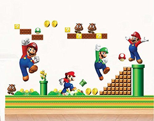 Cartoon Super Mario Bros Wall Decal Home Sticker Paper Re... http://www.amazon.com/dp/B011RPSPFS/ref=cm_sw_r_pi_dp_t.Hqxb1WX78BG