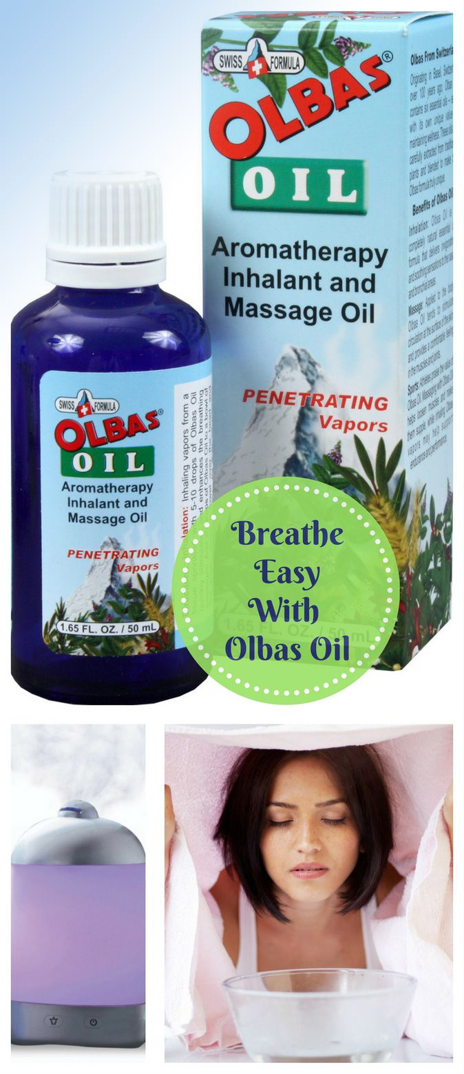HOW TO BREATHE BETTER WITH OLBAS OIL…(1) Add several drops of the pure essential oil blend to a room vaporizer or (2) Use as a steam inhalation therapy by adding 20 drops of Olbas Oil to a bowl of hot water, place a towel over the head and breathe vapors in deeply for 5 to 10 minutes.