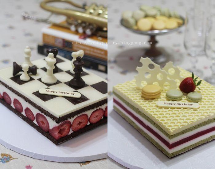 Bloggang.com : : Tristy : Pistachio w/ White Chocolate  & Mascarpone Mousse Cake และ White Chocolate Yogurt Mousse Cake