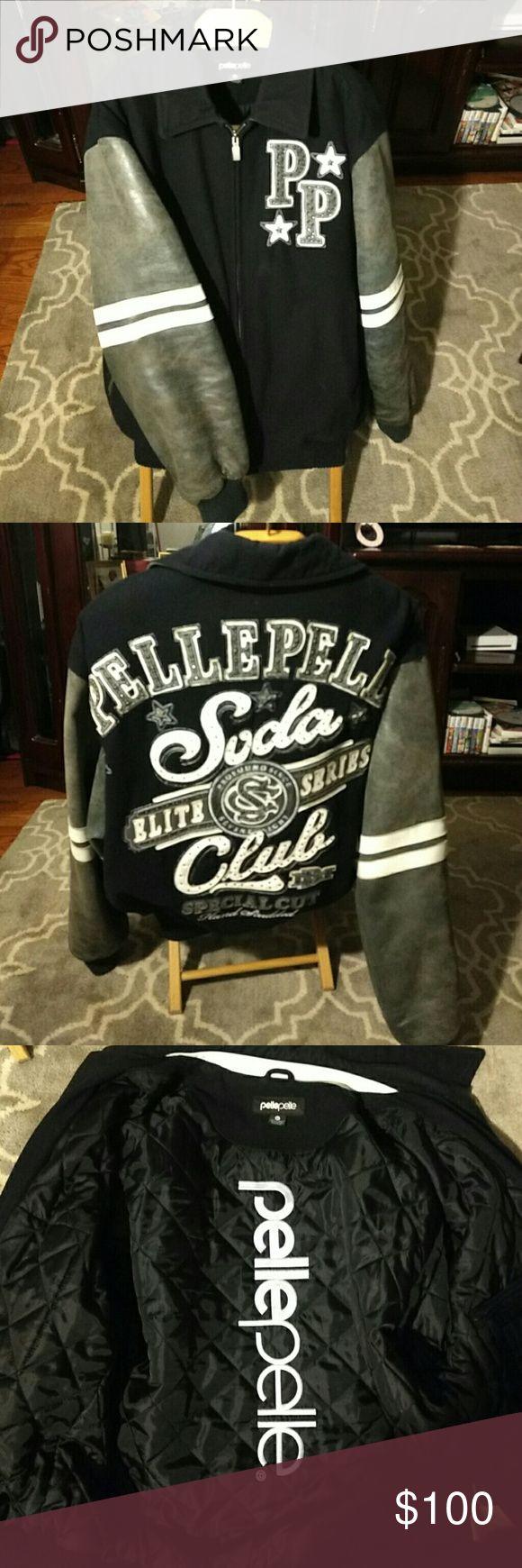 Pelle Pelle Jaket Navy Blue/ Gray/ White Pelle Pelle Jackets & Coats