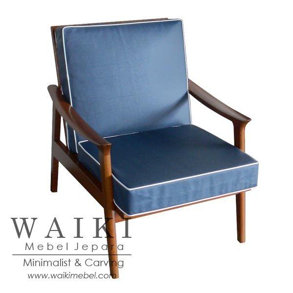 Java Living Chair - Model kursi tamu retro 1960. Waiki Mebel produsen furniture kursi retro scandinavia vintage Jepara teak living chair at factory price.