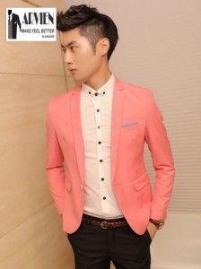 jual baju jas blazer pria model korea slimfit pas badan keren banget buat anak muda